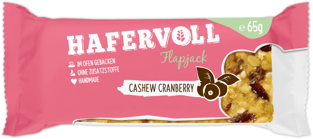 HAFERVOLL Flapjack - Cashew Cranberry
