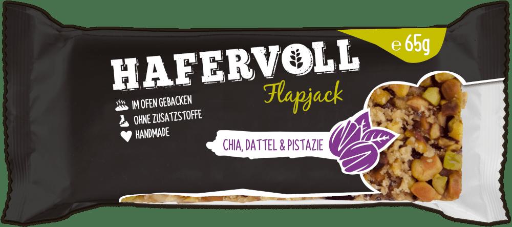 HAFERVOLL Flapjack - Chia Dattel Pistazie