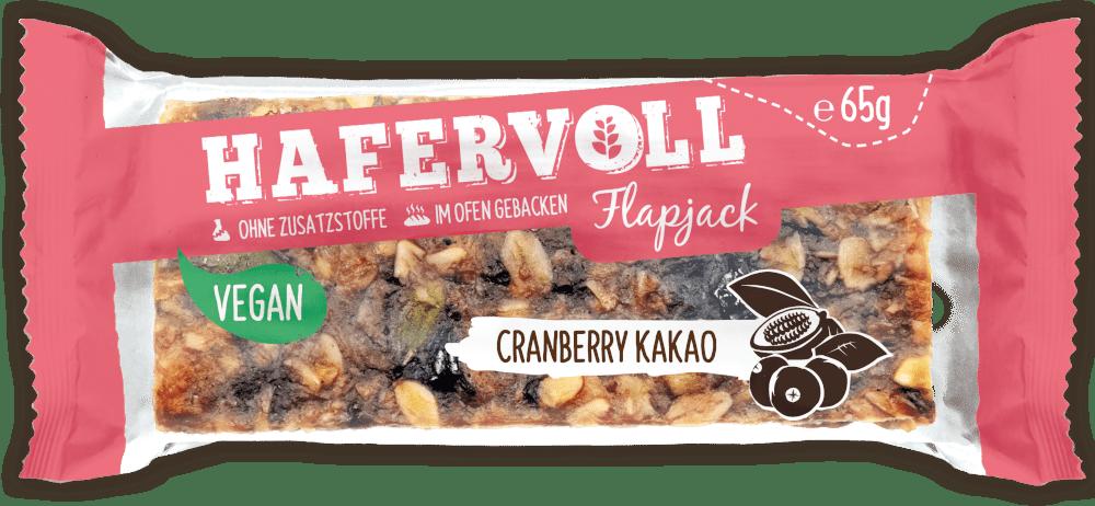 HAFERVOLL Flapjack - Cranberry Kakao Vegan