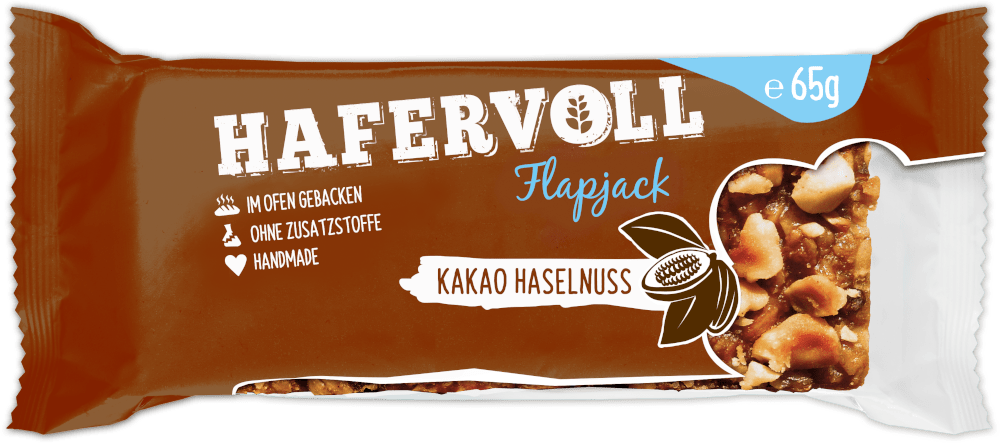 HAFERVOLL Flapjack - Kakao Haselnuss