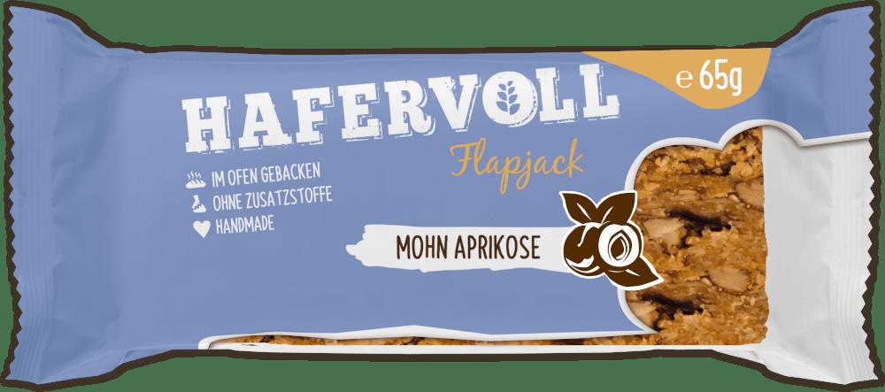 HAFERVOLL Flapjack - Mohn Aprikose