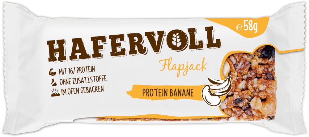 HAFERVOLL Flapjack - Protein Banane