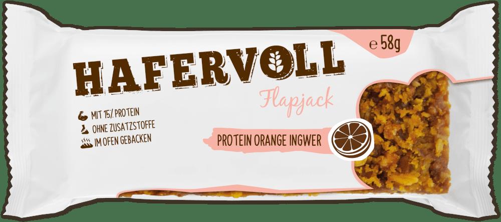 HAFERVOLL Flapjack - Protein Orange Ingwer